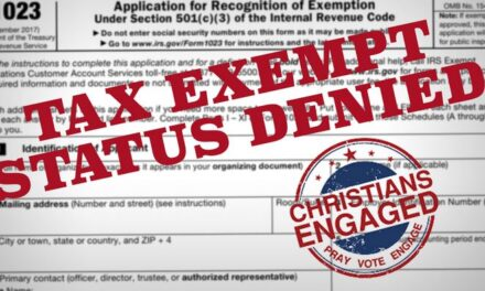IRS Blocks Christian Non-Profit Tax Exemption